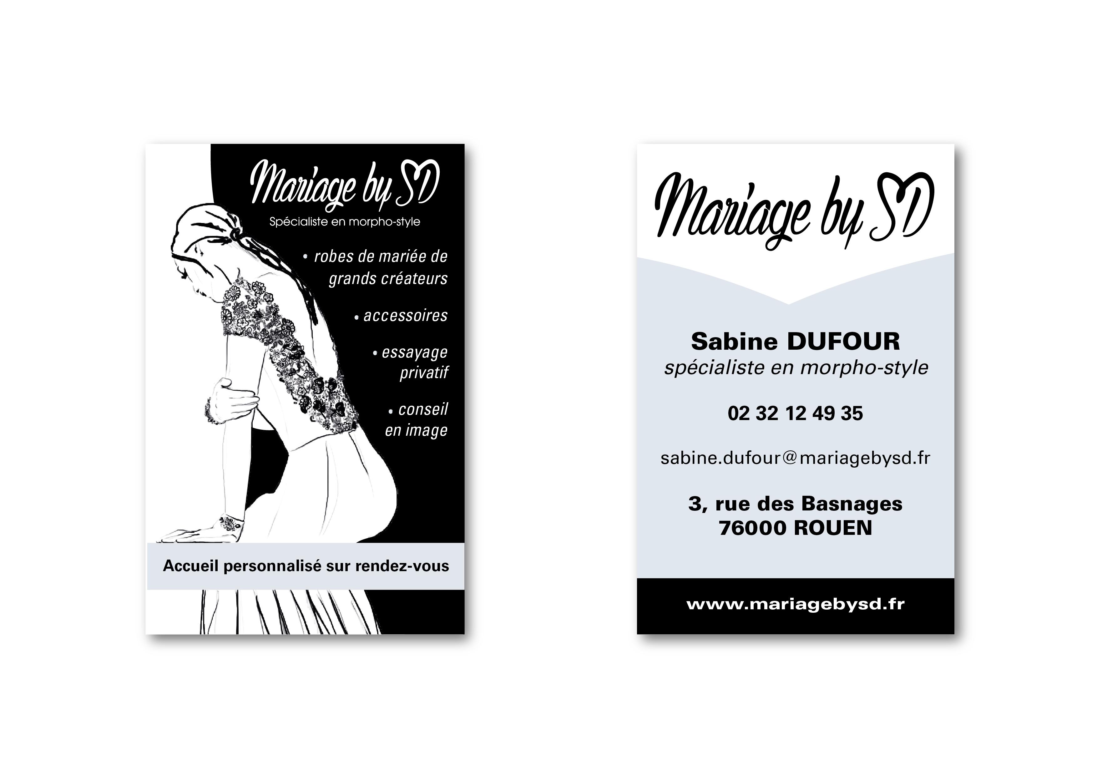 Carte De Visite Boutique Robe Mariee Mariage By SD